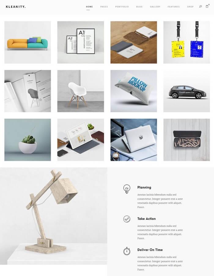 Kleanity Creative Portfolio Theme