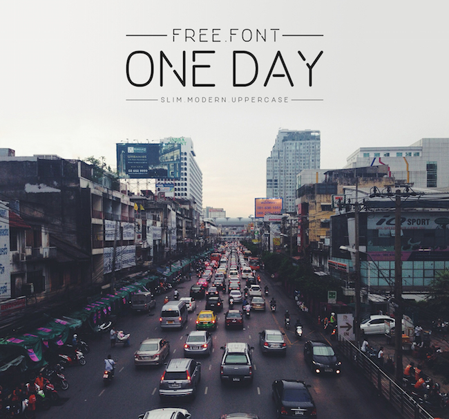 One Day logo font
