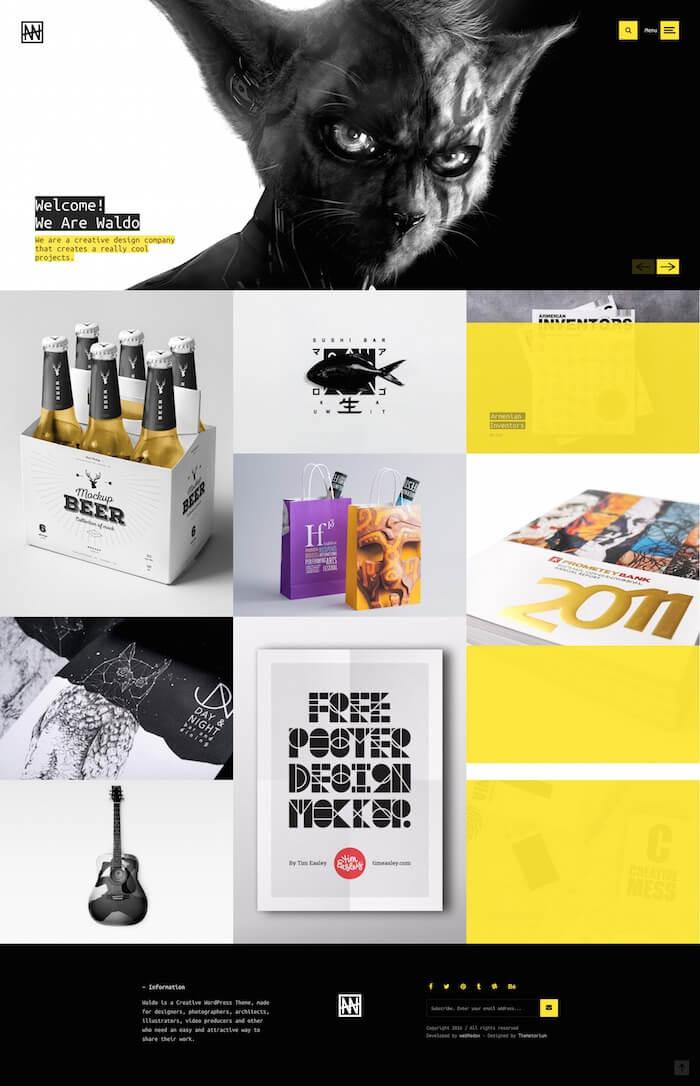 Waldo Creative Portfolio WordPress Theme