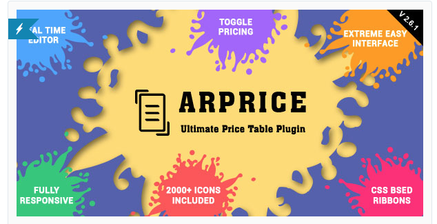 ARPrice Pricing Table Plugin for WordPress