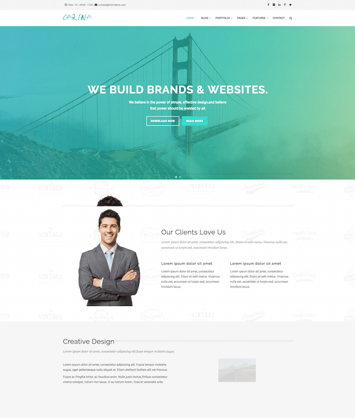 Carina - Creative Multipurpose Drupal 8 Template