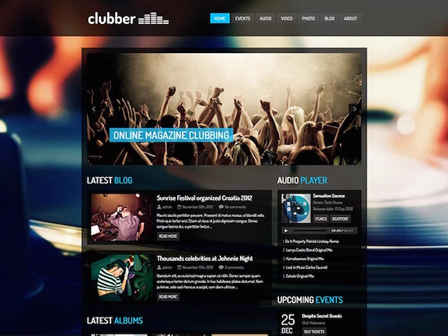 Clubber-WordPress-Theme