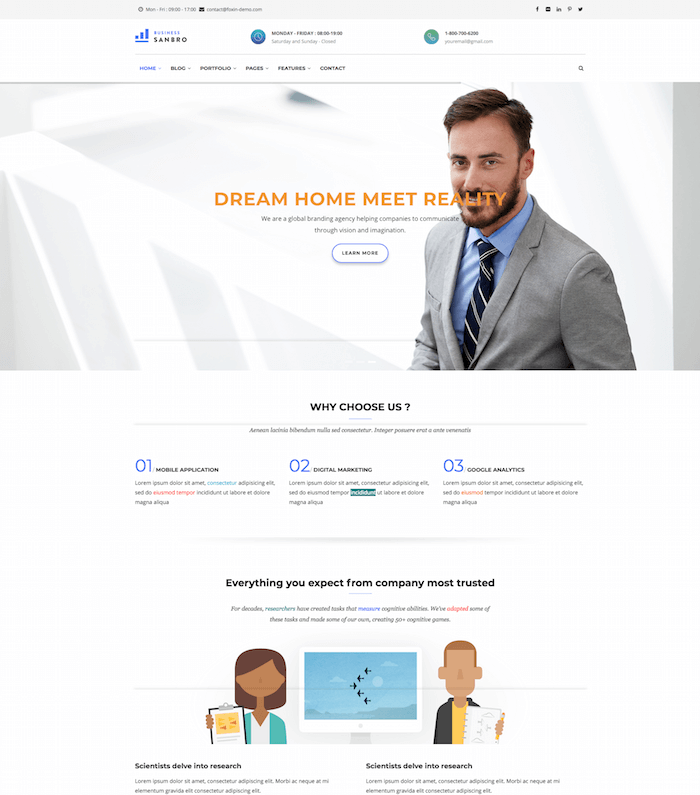 Sanbro Business Drupal 8 Theme