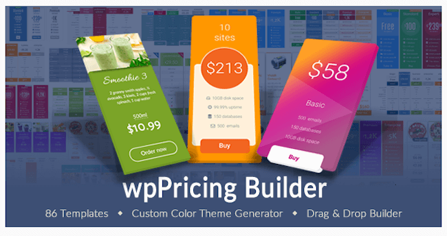 WP Pricing Table Builder