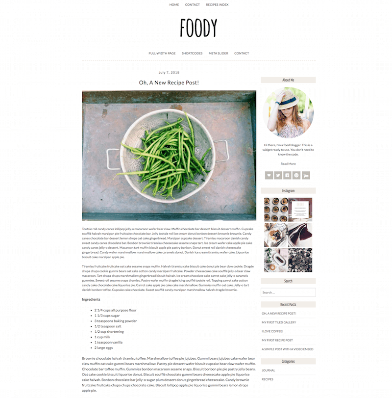 Foody Food WordPress Theme