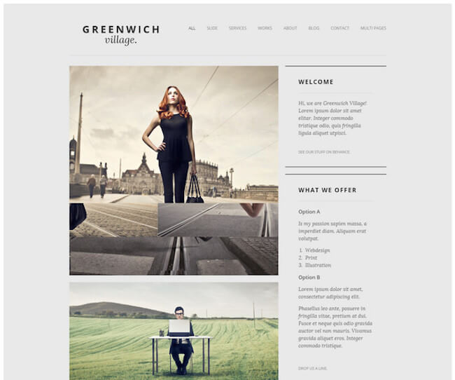 Greenwich Drupal One-Page Theme