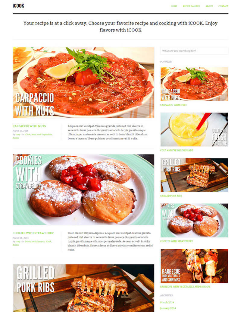 iCook WordPress Themes