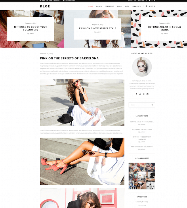 Kloe Lifestyle Multi-Purpose Theme