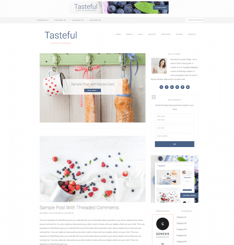 Tasteful WordPress Theme