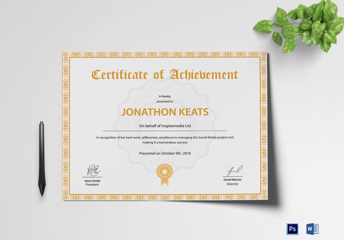 Achievement-Certificate-Template