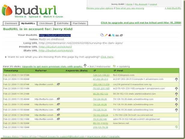 Link Shorteners, BudURL