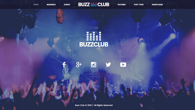 Buzz Club Music Event Theme