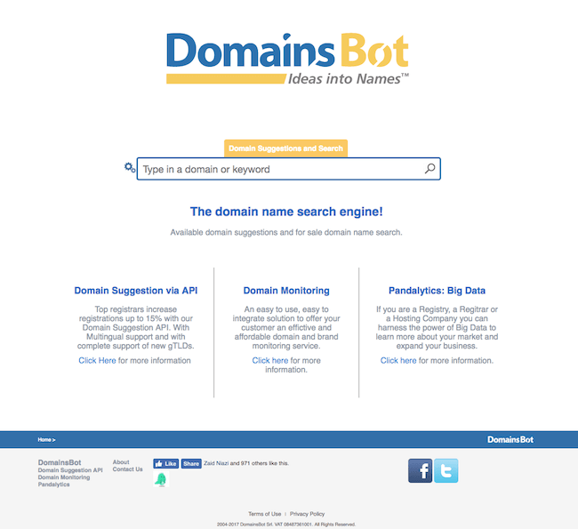 blog domain name finder