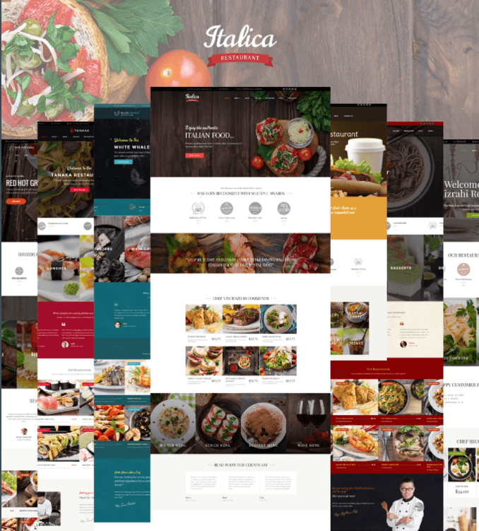 Italica multipurpose restaurant WordPress theme
