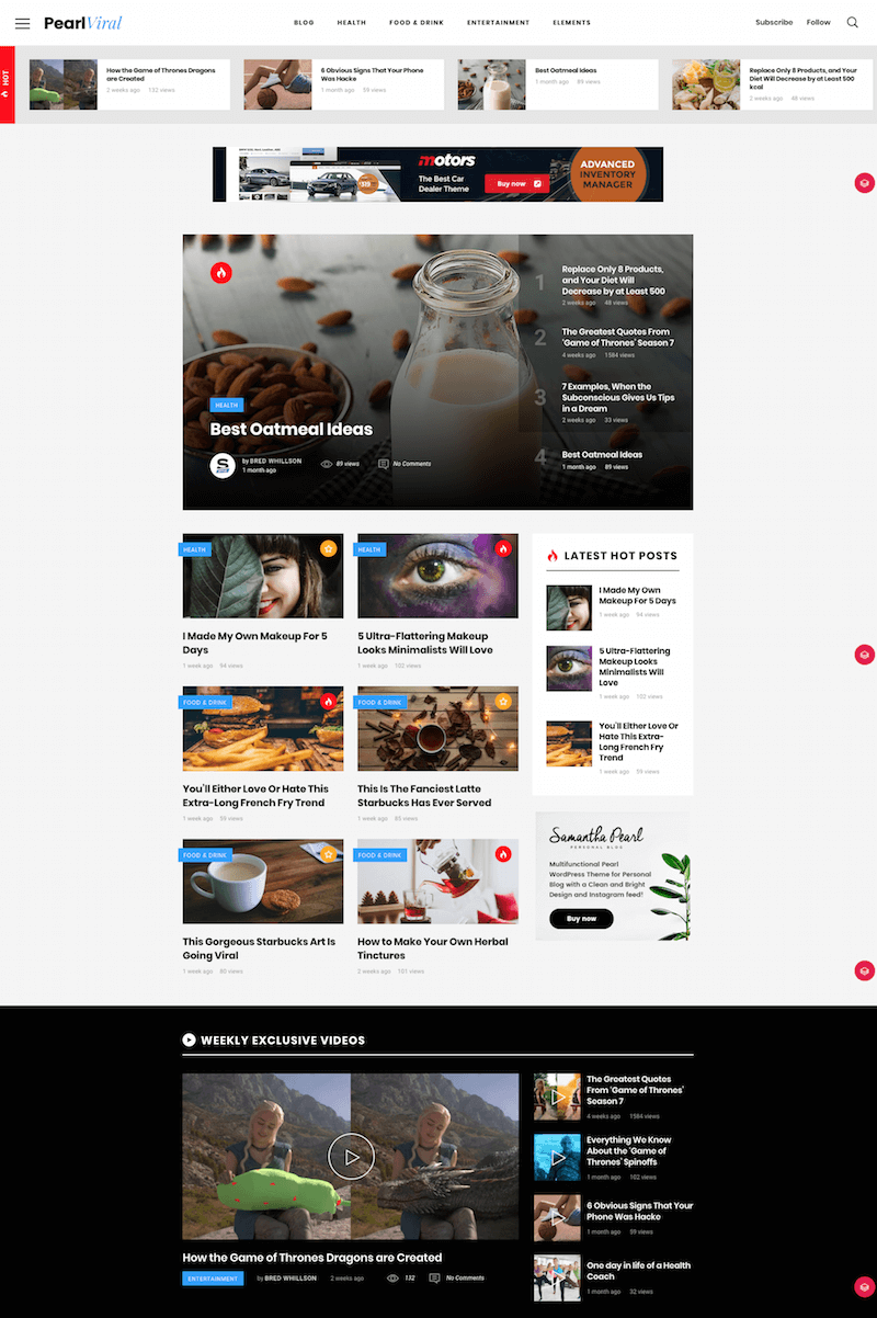 Pearl WP WordPress Theme