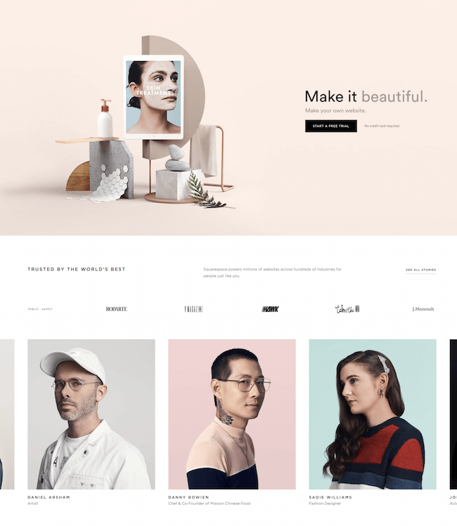 Squarespace Free blog