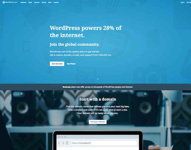 WordPress free site