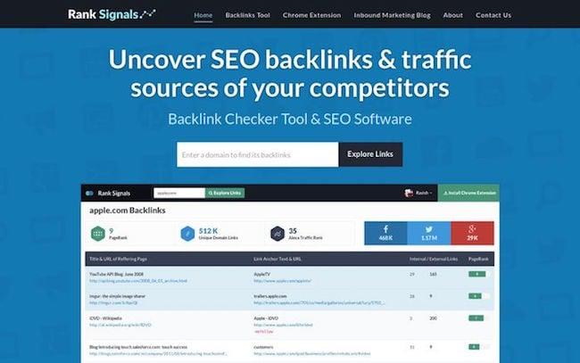 ranksignals backlink checker