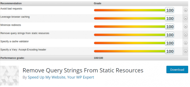 remove query strings from static resources