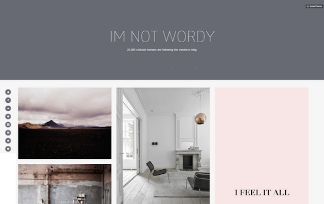 wordy free tumblr theme