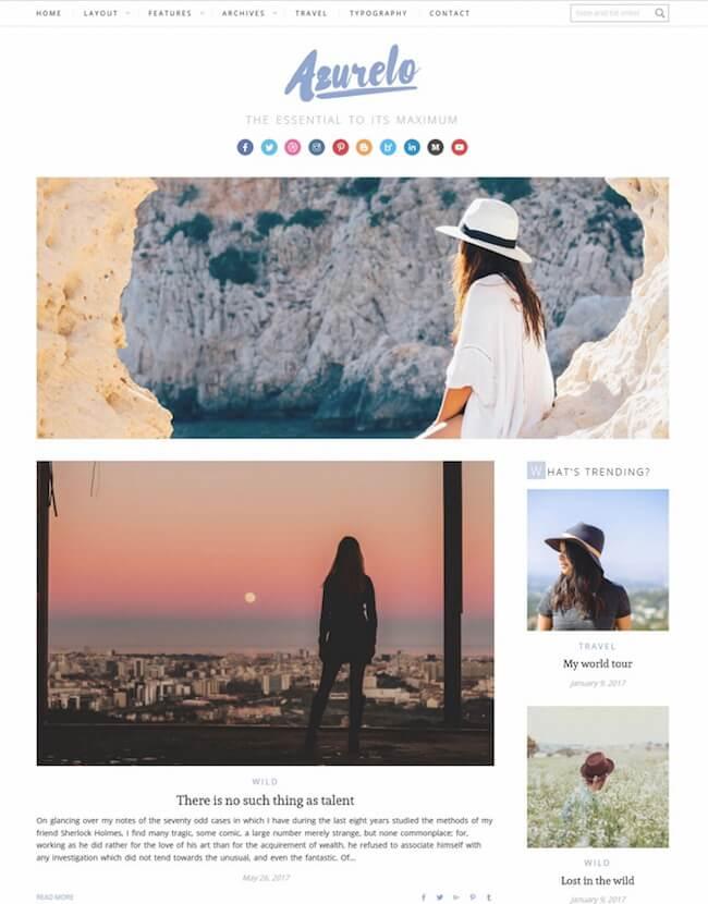 Azurelo, a Responsive Blog Theme