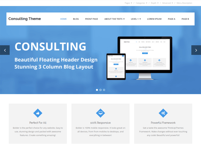 Consulting Free WordPress Theme