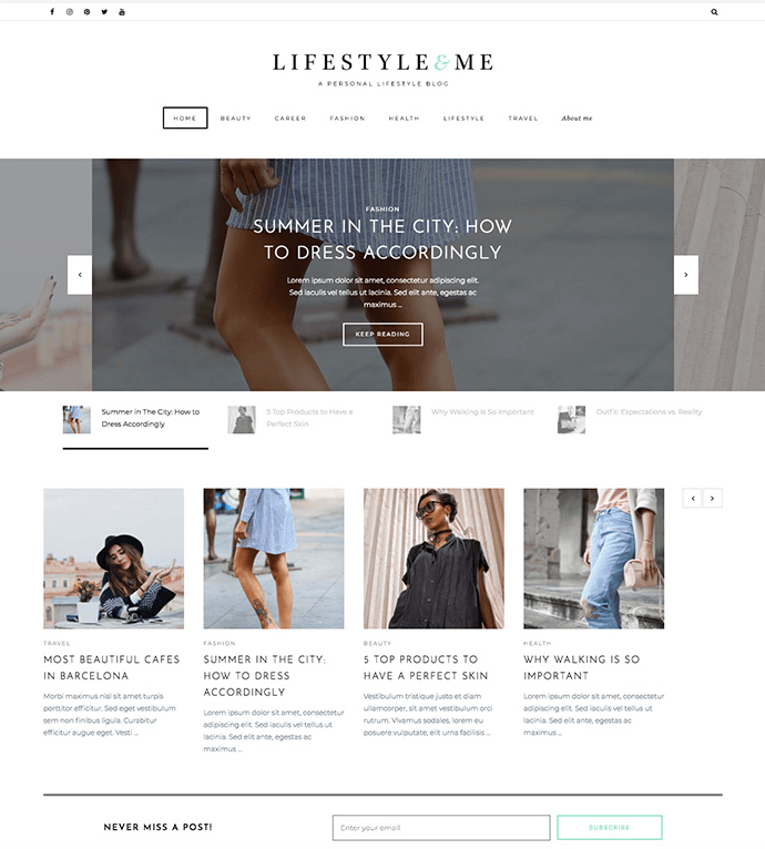 Lifestyle & Me Theme