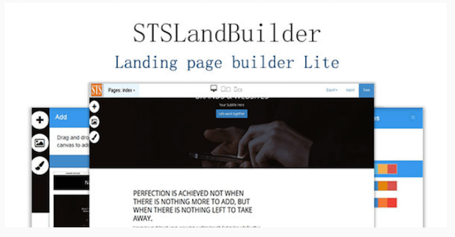 STSLandBuilder Landing Page Builder Lite