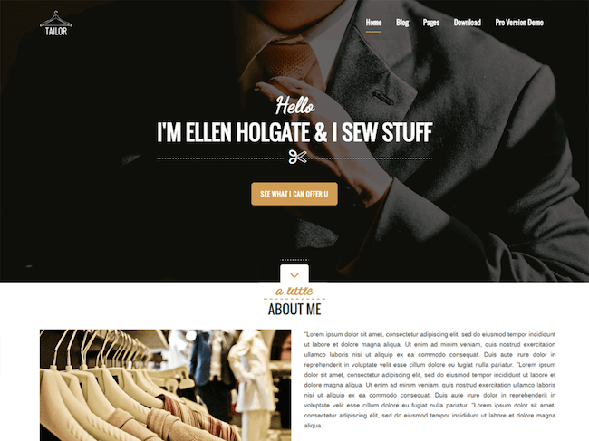Tailor Free WordPress Theme