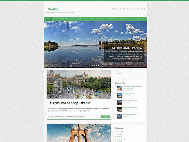 Travelify WordPress Themes