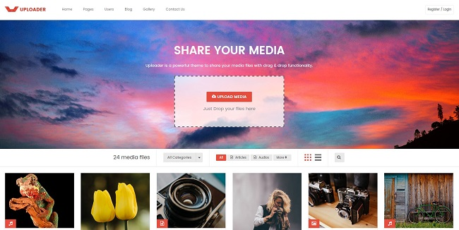 Uploader WordPress Theme