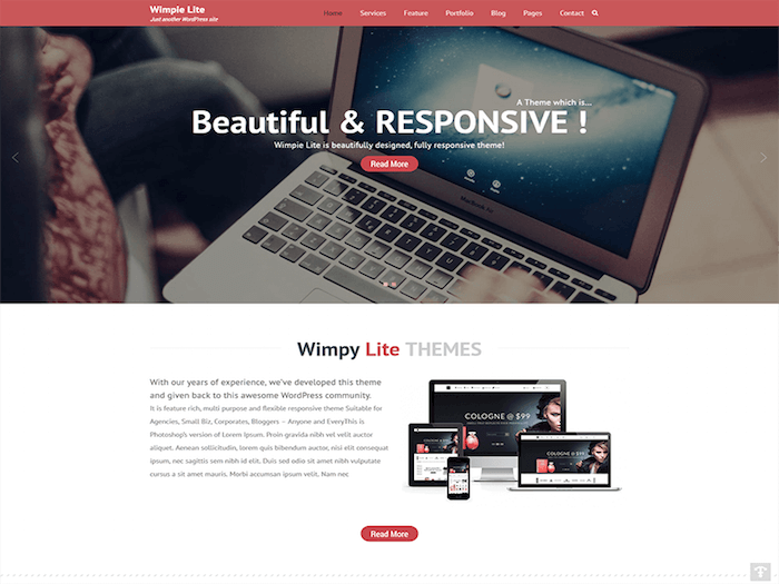 Wimpie Lite Free WordPress Theme