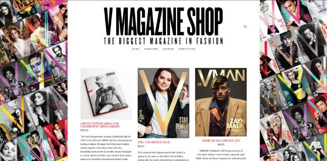 v magazine shop