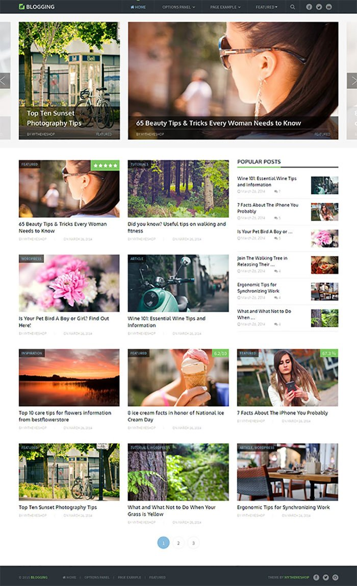 Blogging Theme MyThemeShop