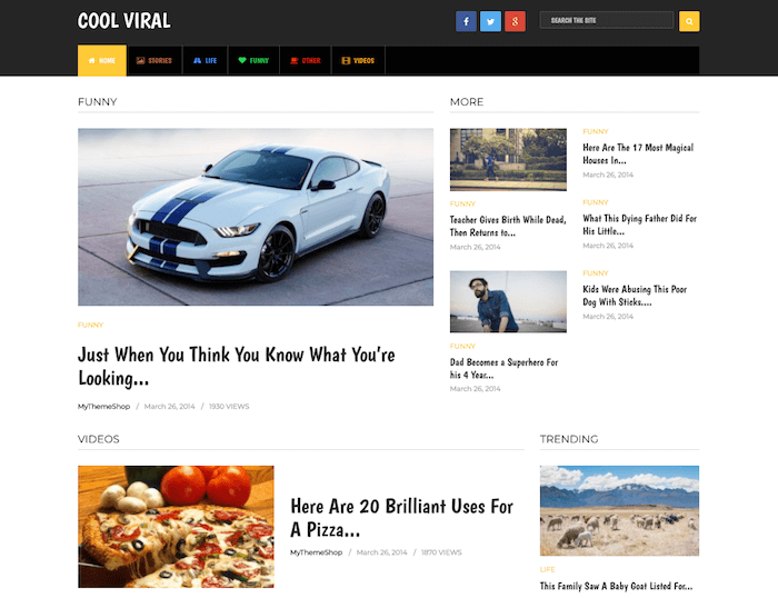 Cool Viral WordPress Theme