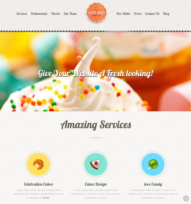 Cute-Cake-Responsive-One-Page-Wordpress-Theme