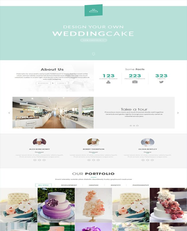 HappyCake Restaurant WordPress Theme