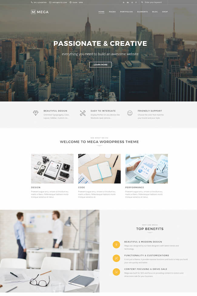 Mega WordPress Theme