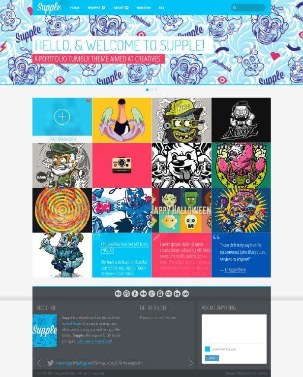 Supple A Portfolio Theme for Tumblr