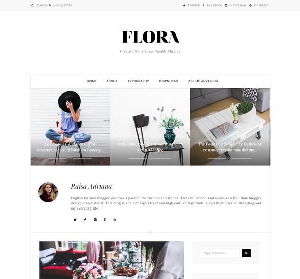 flora Minimal Tumblr Theme