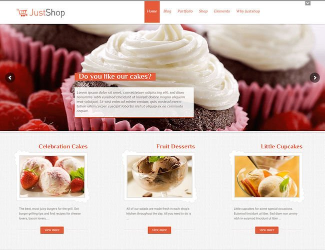 justshop-cake-wordpress-theme