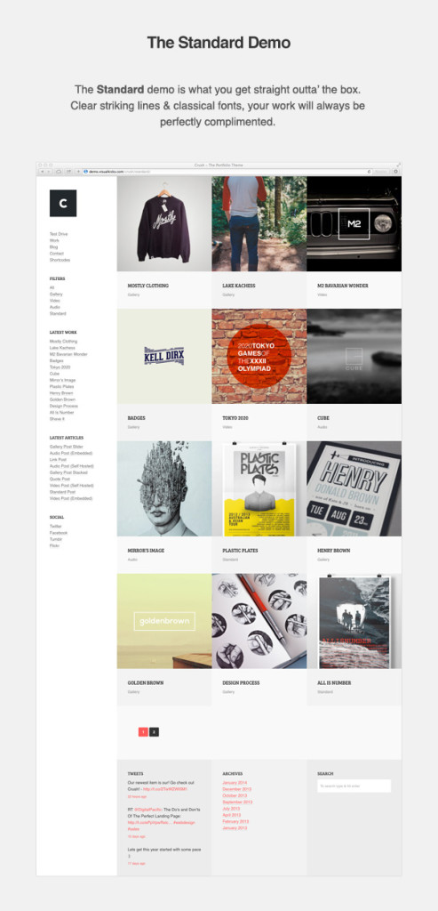 CRUSH Portfolio WordPress Theme