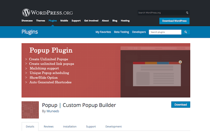 Custom Popup Builder