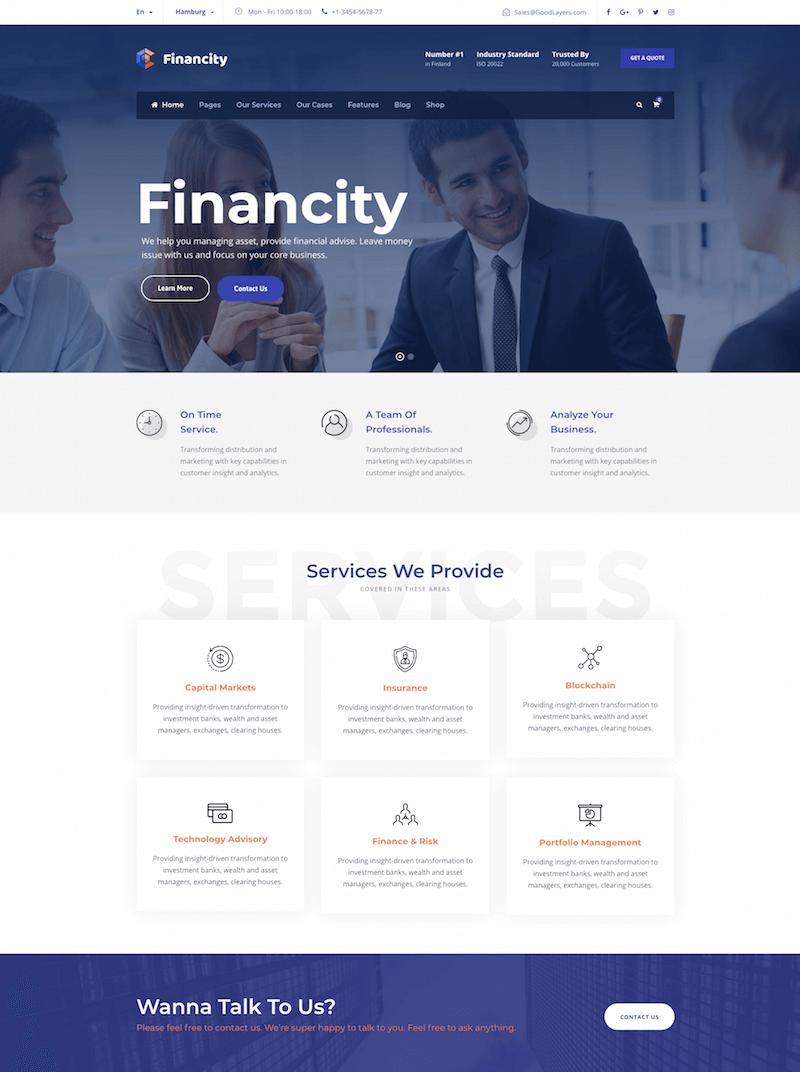 Financity Theme