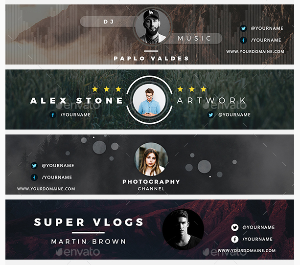 200 Best YouTube Banner Templates 2020