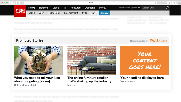 Native advertising, outbrain