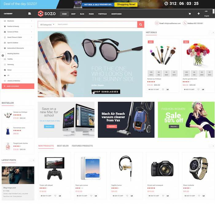 SOZO Mega Shop Theme