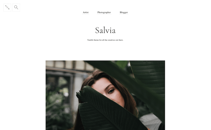 Salvia Minimal Tumblr Theme