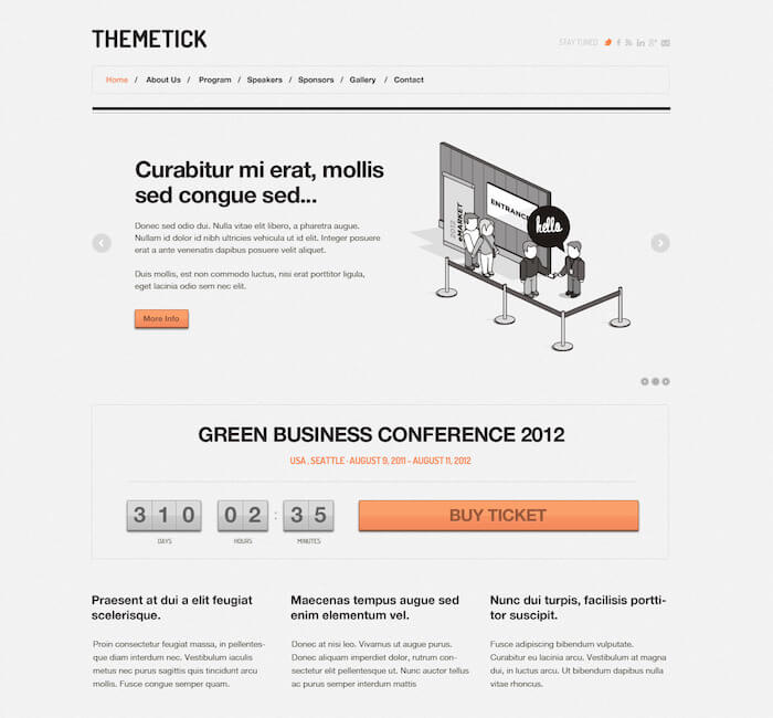 Themetick Event Management WordPress Theme