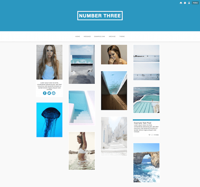 Three Free Tumblr Theme